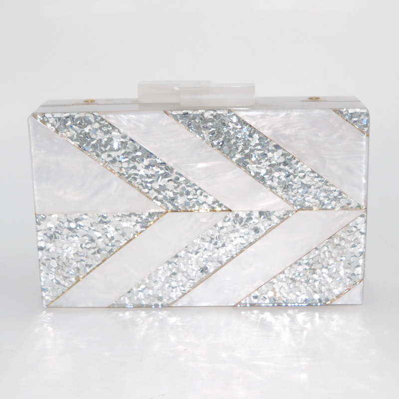 Party lady bag Messenger Sparkle Joint acrylic box clutch wholesale hangdbags