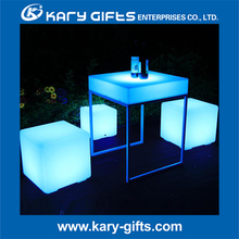 Led event hire nightclub furniture illuminated bar table