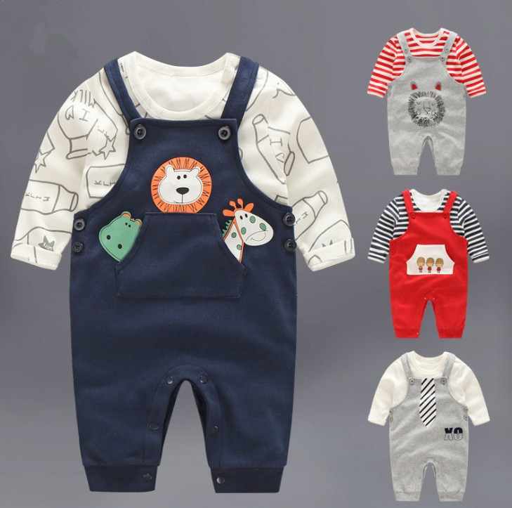 zm21333a the new two-piece baby body suit baby overalls fashional for winter baby toddler clothing