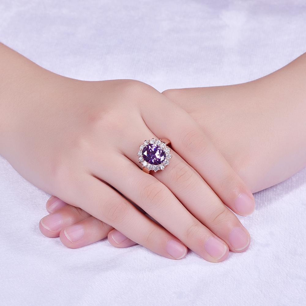 Fashion Big Gem Stone Diamond Wedding Rings Yellow Gold Gem Ring ...