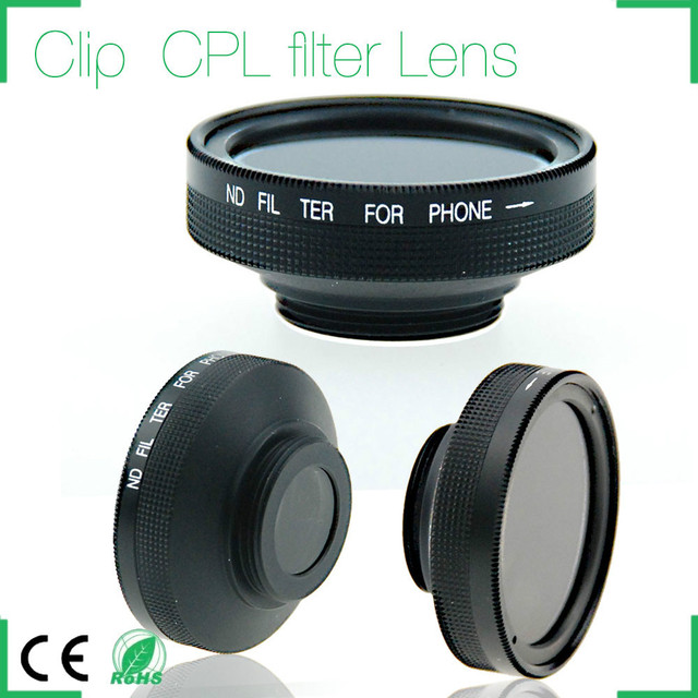 Detachable Clip ND Filter Lens Camera Lens Kit for iphone 6 plus samsung galaxy s4 s5 s6 note 2 3 4 5