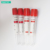 High quality disposable sterile medical PET  red cap top vacuum blood collection serum tube  for hospital single use