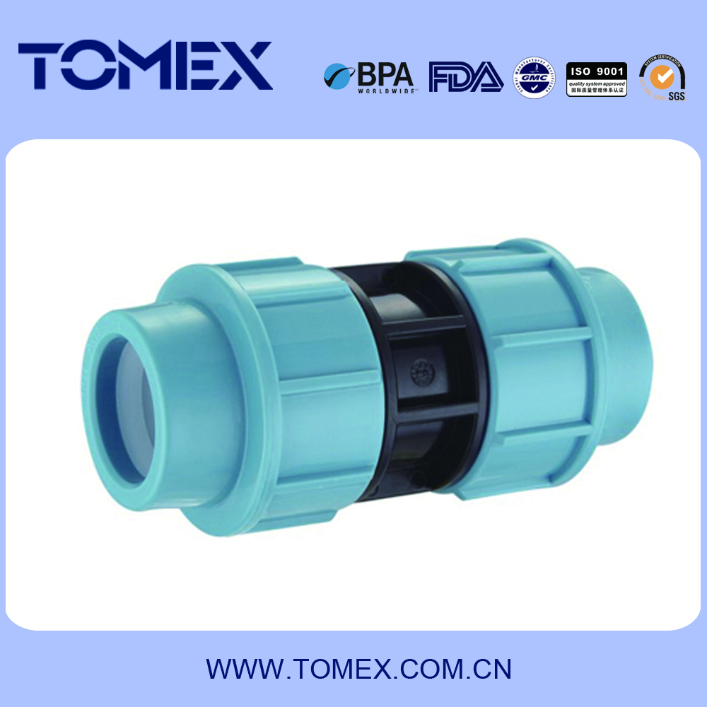 2016 alibaba china manufacturing plastic water pipe pp compression fitting