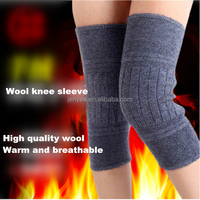 Unisex high quality double layer extra thickness wool warm knee sleeve, knee support, knee protector