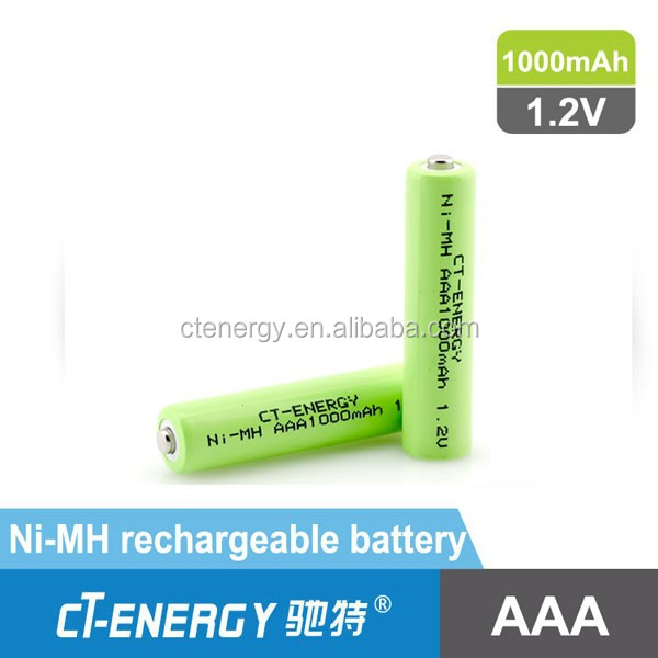NIMH 1.2v rechargeable batteries 1000mAh Battery Cylindrical CT-H100AAA