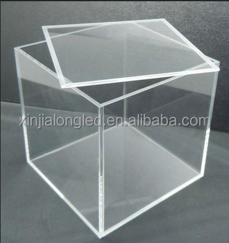 See Through Clear Acrylic Box Square Lucite Acrylic