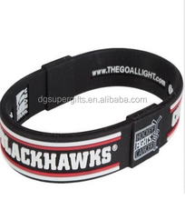 Silicone Bracelets nhl hockey logo custom bracelet for man international ice hockey