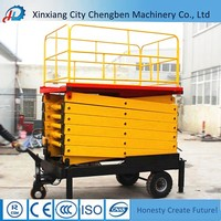 outdoor used small SJY hydraulic scissor elevator lift table for top quality