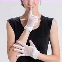 Wholesales Fashionable Luxury Fitness Style Sexy Nylon Wedding Lace Gloves for Women