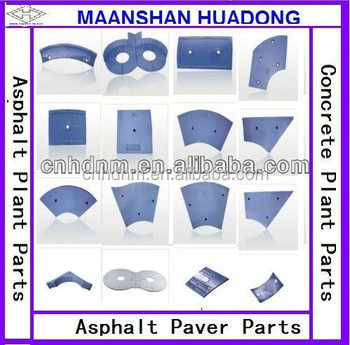 wear resisting parts for mobile mini asphalt plant