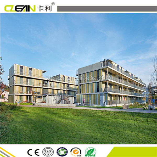 Exterior solid-colored facade Cement Composite panels With CE