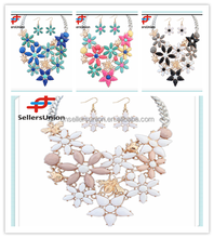 No.1 yiwu exporting commission agent wanted artificial heavy necklace and earrings sets