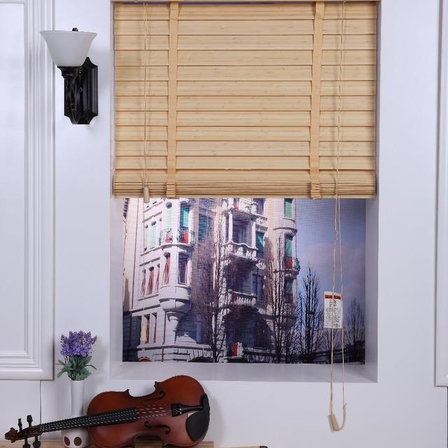 Cheap motorized tubular motor bamboo venetian blinds