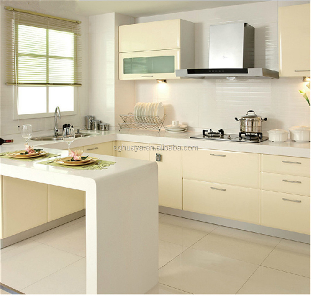 Aluminium Kitchen Cabinet Modern Brushed Metal Uv Board Kitchen Cabinet Buy Aluminium Kitchen