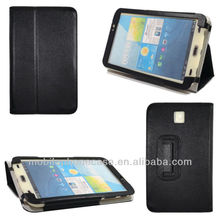 Hot classic folio stand leather case for Samsug Galaxy Tab 3 7.0 t2100