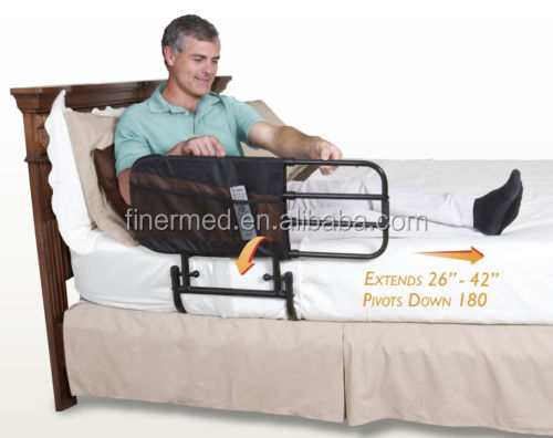 Extendable folding collapsible Safety bed rail