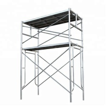 Standard US walk thru frame scaffolding size with stabilisers and braces