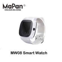 2017 fashion latest white hand wrist smart watch mobile phone with Sedentary Reminder