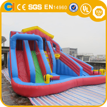 Cheap inflatable water slide with pool inflatable children water slide inflatable small slide