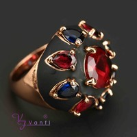 india wholesale alloy colours stone rings fashion jewelry big gemstone ring