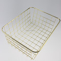 549-97 houseware gold plating table wire mesh basket for storage