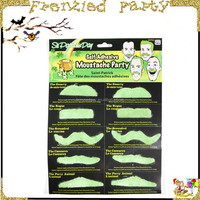 st patricks day green party funny mustache fake beard FGM-0078