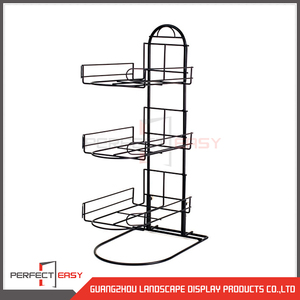Customized metal counter top hat rack / desk top hat rack display for retail stores