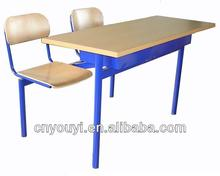 School furniture Double Connected student desk and chair school sets