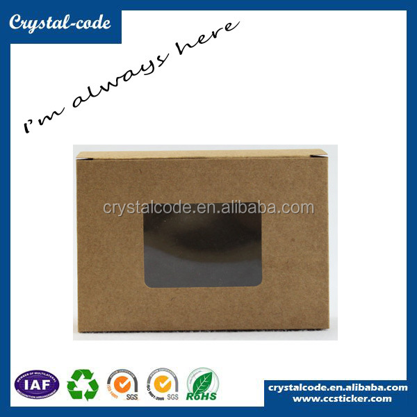 High quality cellophane window clear lid gift boxes black paper box
