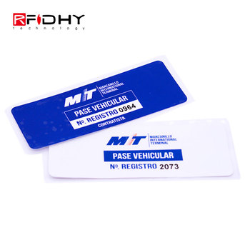 Anti Theft Windshield UHF Passive Tamperproof RFID Tag
