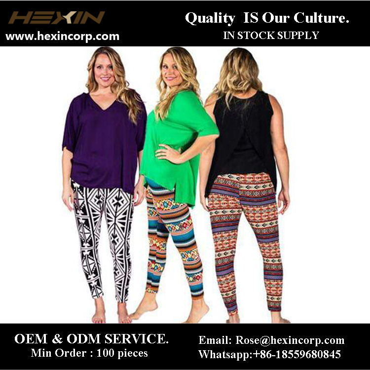Customized 92 Polyester 8 Spandex Printed Lularoe Leggings For Women
