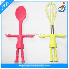 Funny cute design food grade colorful silicone utensils set