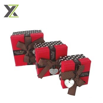 Cheap sell square shape small size red box for gift