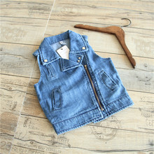YE9777 Spring hot sale kids vest fashion denim boys vest coat