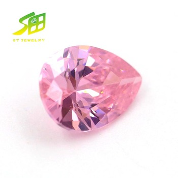 top quality synthetic cubic zircon pear shape gemstone