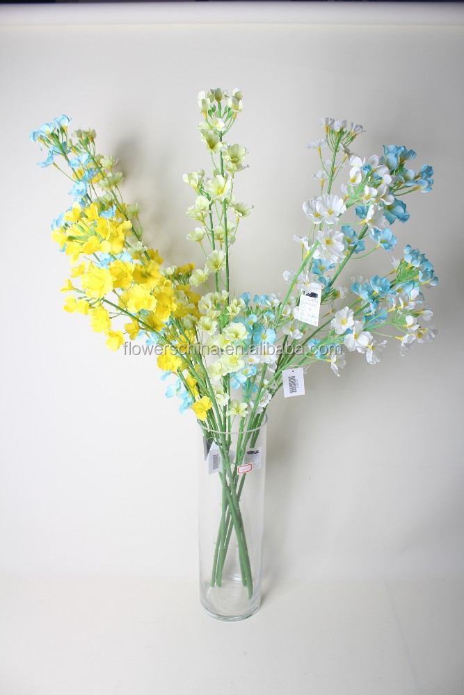 New arrival Aritificial Rape Flowers Decorative Rape flowers for Garden and home decoration