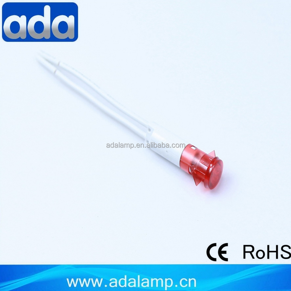 9mm dia A-34 electric iron indicator lamp manufacturer led neon bulb