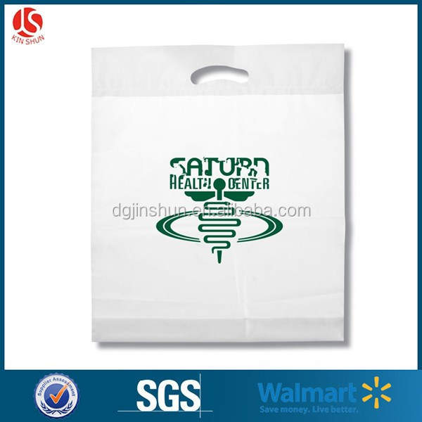 Accept Customized Logo Cheap Waterproof Printed Logo Die Cut HDPE/LDPE Plastic Shopping Handling Bags