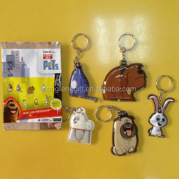 2015 pvc led logo keyring/pvc led projection keychain,pvc led plastic keyring