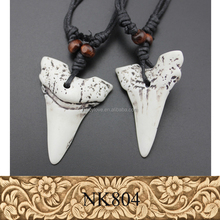 Newest necklace jewelry imitation shark teeth wood necklace