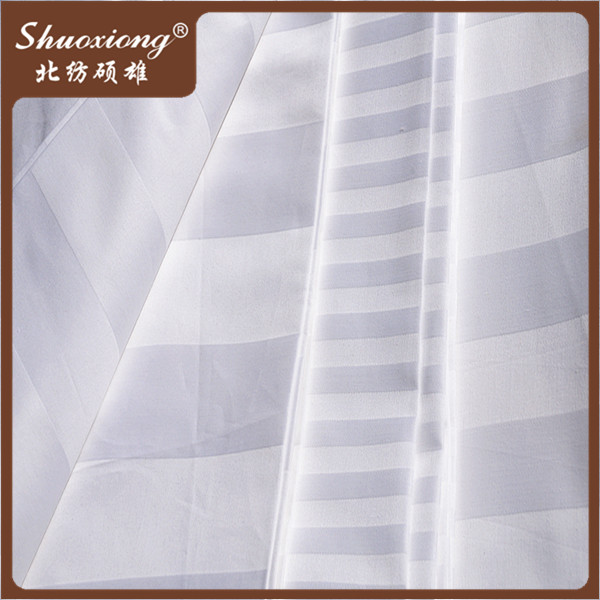 173*120 extra wide cotton bedding sateen/ satin stripe fabric