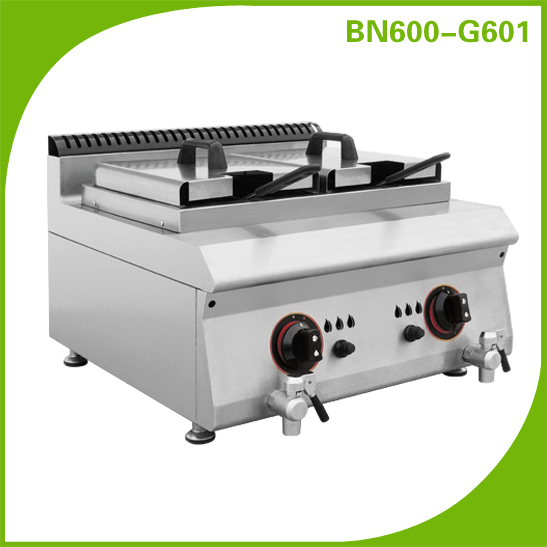 Chinese Restaurant Kitchen Equipment 600 series countertop cooking equipment line gas deep fryer for