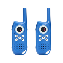 Amazon hot selling for kids interphone 3KM cute blue 3 channels walkie talkie toy