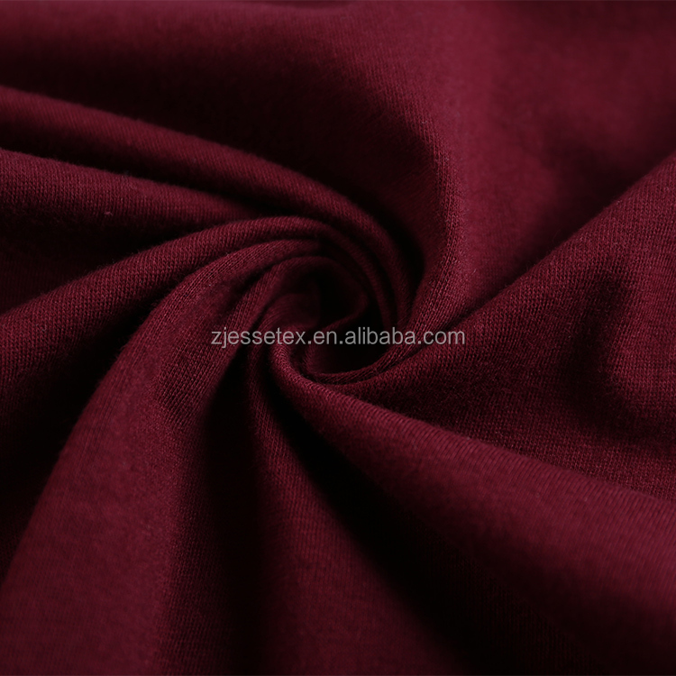 2018 new product custom 95% cotton 5% spandex knitted jersey textile fabric