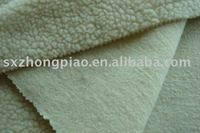 KNITTED LAMB FUR FLEECE FABRIC