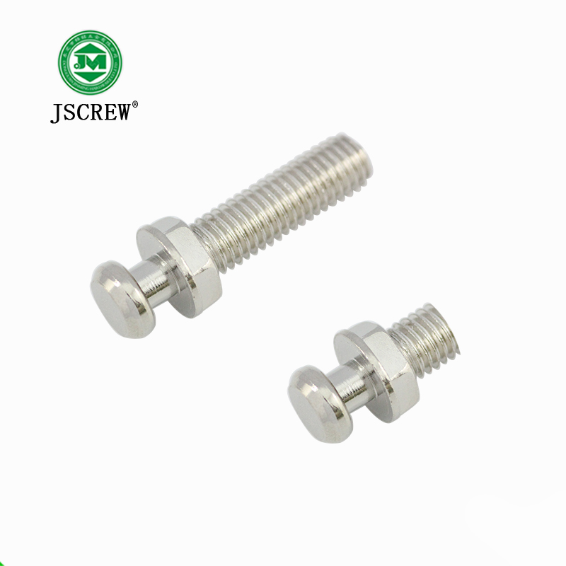 High quality hot selling hex head cup necking stainless carbon steel machine screw bolt