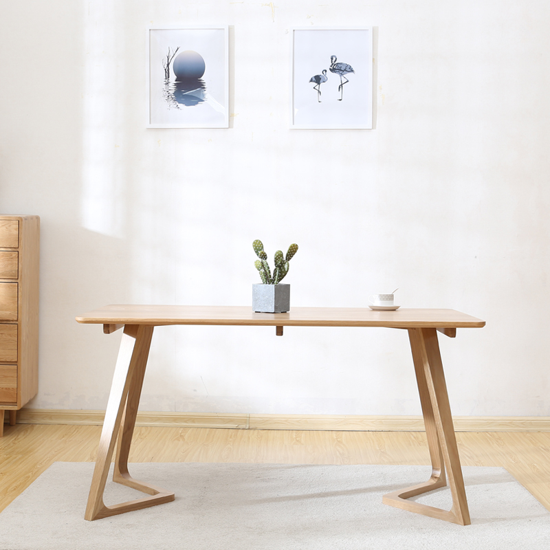 Imported white oak wood dinning table