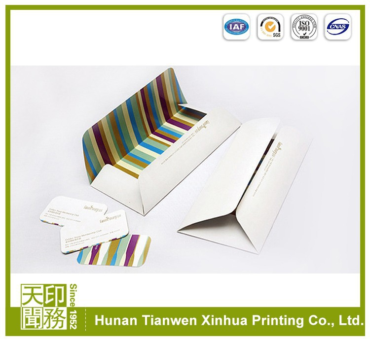 gold mailing high quality brown kraft paper envelope supplier
