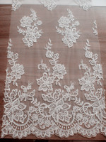 FLORAL DESIGN TRIM IVORY FABRIC TAPE SEWING APPAREL ROYAL LACE