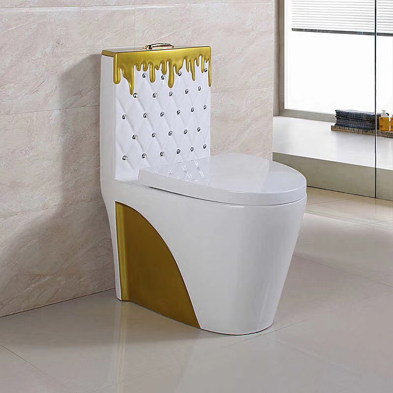 New Decorative design bathroom sanitary colored toilets prices